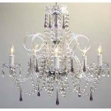 harrison lane 5 light crystal chandelier harrison lane 5 light crystal chandelier crystal color amethyst