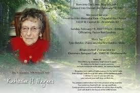 Funeral Service Invitation Funeral Service Announcement Template Card Invitation Ideas