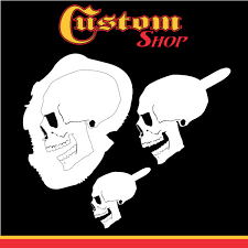 custom shop airbrush stencil skull design set 6 3 different