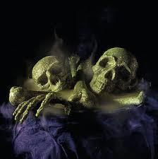 halloween home decor martha stewart glittered skull and bones set