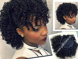 afro curly weave ponytail hairstyles clip ins natural