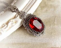 red gothic necklace images Romantic vintage victorian gothic inspired by midnightvision jpg