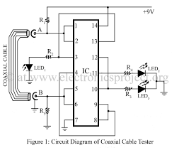 circuit diagram of coaxial cable tester electronics project