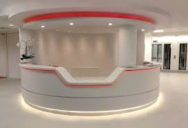 Rounded Reception Desk Uncategorized Front Desk Counter Design Within Imposing Modern