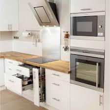 cuisine ikea blanc meuble cuisine blanc laqué ikea pinteres