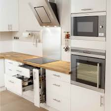 cuisine blanc laqué meuble cuisine blanc laqué ikea pinteres