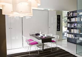 ulisse vertical collapsable wall bed system with table dining