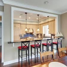 best 25 half wall kitchen ideas on kitchen open to
