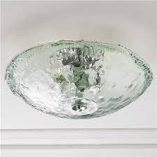 recycled bottle glass bowl ceiling light faves lighting flush