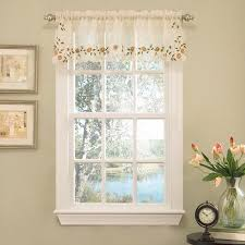 Sheer Curtains With Valance Sweet Home Collection World Style Floral Embroidered Semi