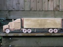 more wooden trucks