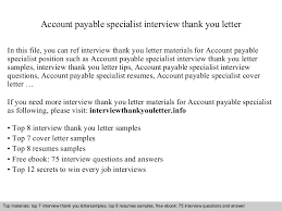 ideas collection thank you letter after interview accounts