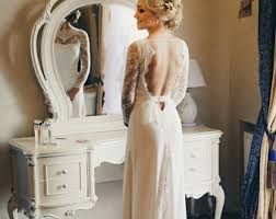 Long Sleeve Lace Wedding Dress Open Back Long Sleeve Wedding Dress A Line Lace Wedding Dress With Open