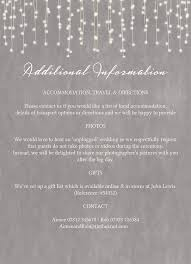 wedding invitations lewis dove grey fairy lights wedding invitation from a ea on s