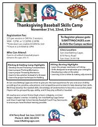 thanksgiving baseball c sj batting cages
