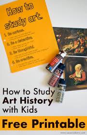 How To Study Art History With Kids Free Printable U2013 The