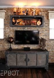 Steampunk Furniture Epbot Finished Steampunk Tv Cabinet U0026 Shelf Reveal