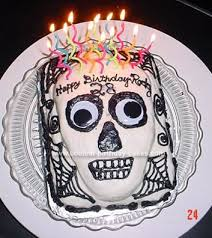 coolest skull birthday cake
