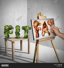 a painter food temptation concept green image u0026 photo bigstock