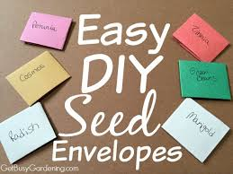 seed envelopes diy seed envelopes