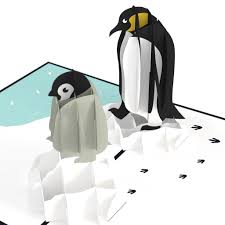 penguin pop up card lovepop