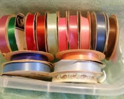 ribbon spools vintage ribbon spool etsy
