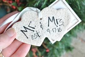 personalized newlywed mr and mrs salt dough ornament
