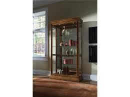 Pulaski Furniture Curio Cabinet by Pulaski Furniture Curios Golden Oak Two Way Sliding Door Curio
