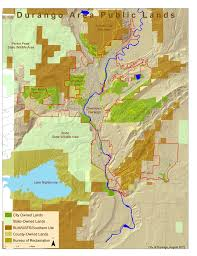 Colorado Lakes Map by Durango Co Official Website Lake Nighthorse