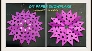 diy fuschia snowflake diy paper ornaments pink snowflake