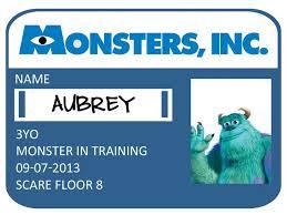 printable monster name tags monsters inc badge printable monsters inc badge with each kids