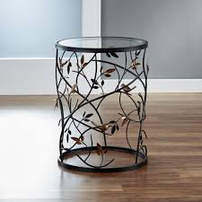 glass cylinder table l innerspace luxury products antique bronze large bird and branches