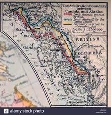 Tos Map Alaska Canada Boundary Stock Photos U0026 Alaska Canada Boundary Stock