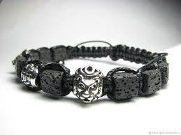 shamballa bracelet handmade images Mens shamballa bracelet with lava basalt shop online on jpg