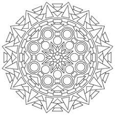 flower mandala picture color stained glass window mandala