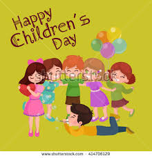 children s cards happy childrens day greeting card design stock vector 414706129