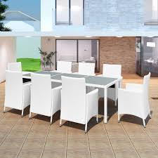 stella rattan outdoor dining set 9 piece off white free