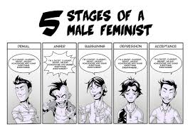 Meme Comic Tumblr - the five stages of a male feminist toy soldiers