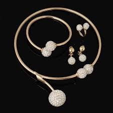 gold necklace bracelet earrings set images Hot dubai gold plated filled women party jewelry set women wedding jpg