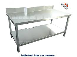 table inox cuisine table cuisine inox annin se rapportant à table inox cuisine