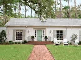 simple exterior house paint ideas with grey roof combined with
