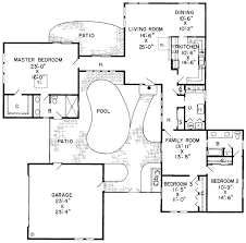 House Plans With Pools Enchanting House Plans With Courtyard Pools Gallery Best Idea