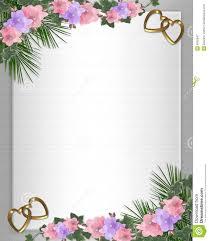 wedding invitation border orchids ivy royalty free stock