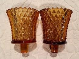 home interior votive cups home interior homco set of 2 clear optic votive cups