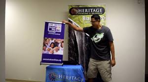 how to setup a table top retractable banner stand youtube