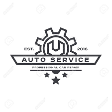 car service logo service auto repair wrench logo sign flat royalty free cliparts