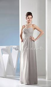 etui linie v ausschnitt bodenlang chiffon brautjungfernkleid mit blumen p629 bridesire grau brautjungfernkleider grau