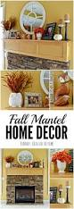 fall mantel decor ideas orange and yellow accents mantels decor