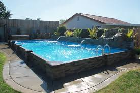 this exlusive islander pool is 14 u0027 x 28 u0027 with a rock waterfall and