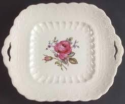 spode s billingsley spode billingsley pink 2 8867 newer square handled cake